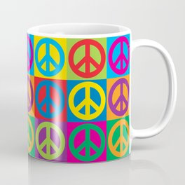 Pop Art Peace Symbols Coffee Mug