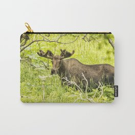 Bull Moose in Kincaid Park, No. 2 Carry-All Pouch