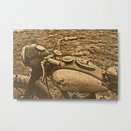 Jawa motorcycle Metal Print