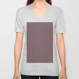 Brown boho abstract modern geometric arrows Unisex V-Neck