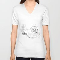 2001 a space odyssey V-neck T-shirts featuring 2001 A Space Odyssey by Ah Shun