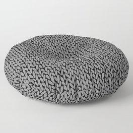 Hand Knit Dark Grey Floor Pillow