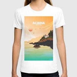 National Parks Poster: Acadia T-shirt