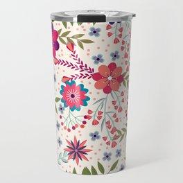 Beautiful Flower Pattern Art Travel Mug