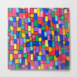 Patchwork of Colours Metal Print