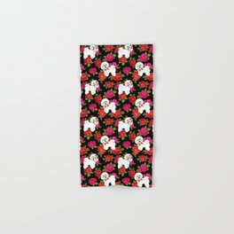 Bichon Frise dogs red rose floral for dog lovers Hand & Bath Towel