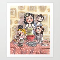 Cuisinons ensemble Art Print