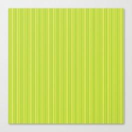 Lime Green Pinstripe Canvas Print