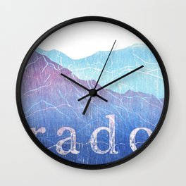 Colorado Mountain Ranges_Pikes Peak + Continental Divide Wall Clock