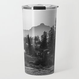 Black and White Hiking Travel Mug