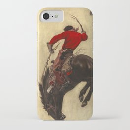 Bucking Bronco, 1903 by Newell Convers Wyeth iPhone Case
