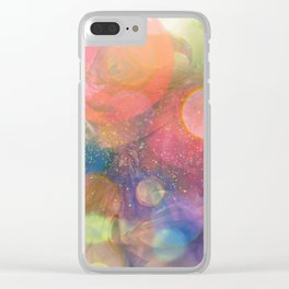 bokeh floral Clear iPhone Case