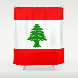 Flag of Lebanon Shower Curtain