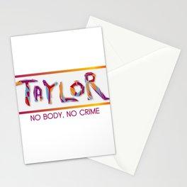 No body, no Crime - music Stationery Cards
