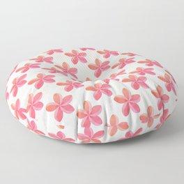 Pink Plumeria Frangipani Flower Pattern Floor Pillow