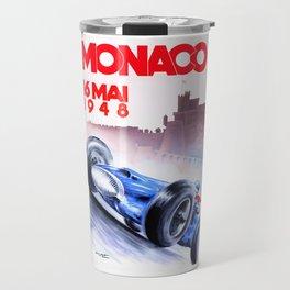 1948 Monaco Grand Prix Race Poster  Travel Mug