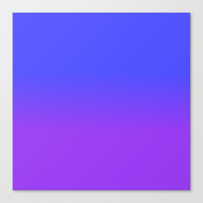Neon Purple And Bright Blue Ombré Shade Color Fade Canvas Print