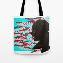 Black woman with braids floral Tote Bag