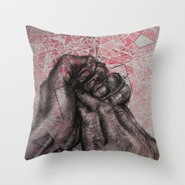 Wringing in my Head Throw Pillow