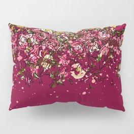 Purple drooping flowers Pillow Sham