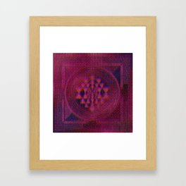 Holo Sri Yantra Framed Art Print