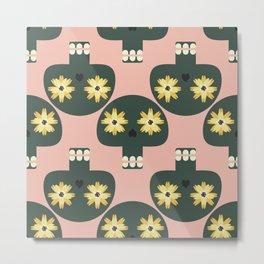 Funny pattern with cute skulls Metal Print