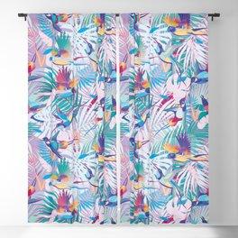 Vibrant Tropical Birds Blackout Curtain