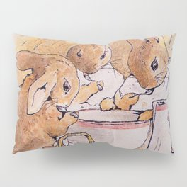 Peter Rabbit with his parents Pillow Sham