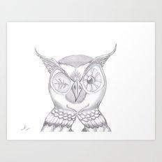 Mr. Wink The Owl Art Print