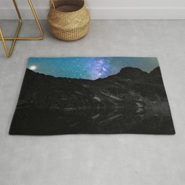 Milky Way Mountain Rug