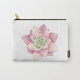 Pink succulent Carry-All Pouch