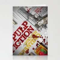 pulp fiction Stationery Cards featuring Pulp Fiction by Andres Asencio