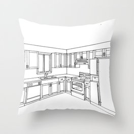 Kitchen Interior 1 Throw Pillow