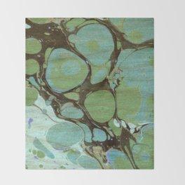Abstract Painting ; Seaweed Throw Blanket