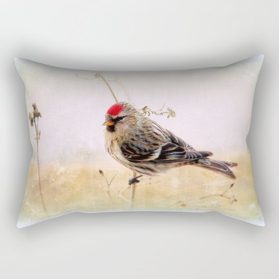 Redpoll Rectangular Pillow