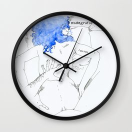 NUDEGRAFIA - 17  I am hope Wall Clock