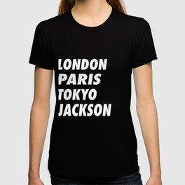 Funny London Paris Tokyo Jackson Design T-shirt