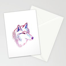 Wolf Watercolor Print Stationery Cards