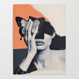 collage art / butterfly Poster