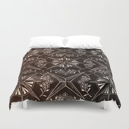 Forget me not compass (black) Duvet Cover