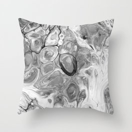 Smooth Abstract (Black and White) Throw Pillow