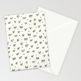 Cute pattern with hand- drawn bows Stationery Cards