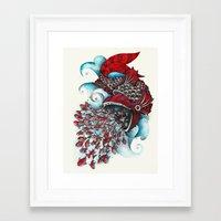 eat Framed Art Prints featuring eat by Condutta