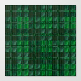 Dark Green Tartan Canvas Print