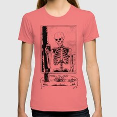 Skelfie MEDIUM Womens Fitted Tee Pomegranate