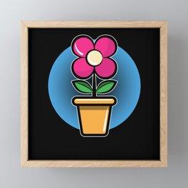 Gardener Gardening gift Flower For Office Framed Mini Art Print
