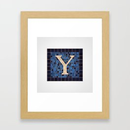 The Letter Y Framed Art Print