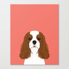 Bode - King Charles Spaniel customizable pet art for dog lovers  Canvas Print