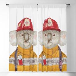 Koala Firefighter Blackout Curtain