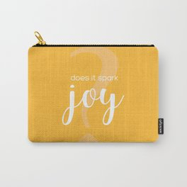 Does It Spark Joy in orange Carry-All Pouch